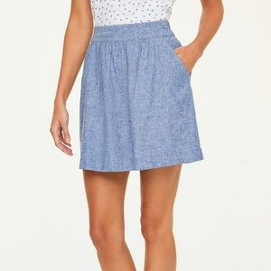 Loft Chambray Pull On Skirt in size XS